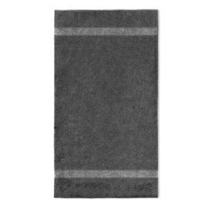 handdoek 70x140cm antraciet borduren