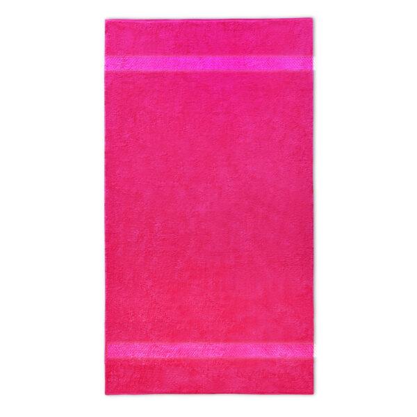 handdoek 70x140cm fuchsia borduren