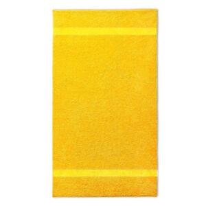 handdoek 70x140cm geel borduren