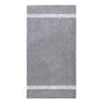 handdoek 70x140cm grijs borduren