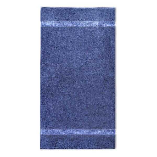 handdoek 70x140cm navy donker blauw borduren