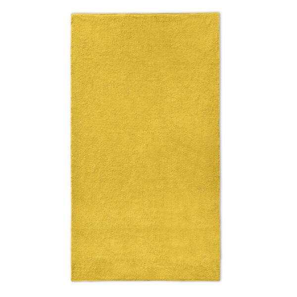 strandlaken oker geel borduren