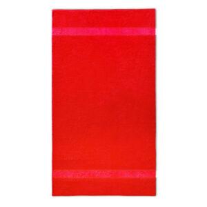 handdoek 70x140cm rood borduren