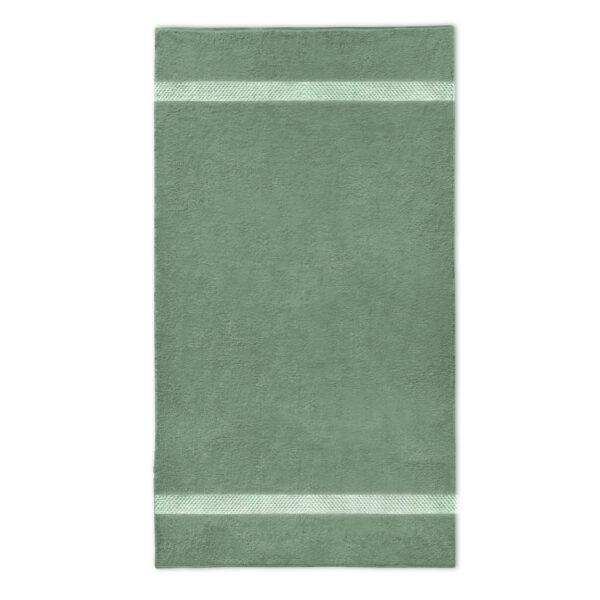handdoek 70x140cm stone groen borduren