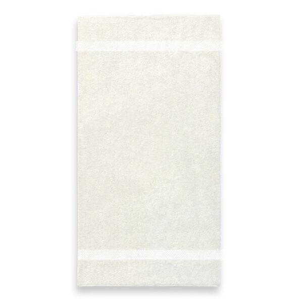 handdoek 70x140cm creme borduren