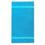 handdoek 70x140cm turquoise borduren